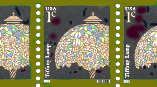PNC3 - 1c Tiffany Lamp Stamp Details